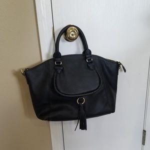 Olivia & Joy Black Tassle Handbag